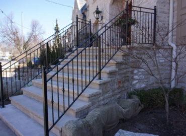 Stairs' Exterior hand Railing